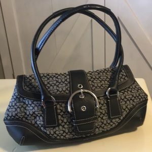 Coach Purse, Black/Gray. As Is